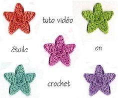 Une vidéo en français pour faire des étoiles au crochet.DIY. - Elkalin. Bienvenue sur mon blog!                                                                                                                                                                                 Plus