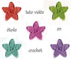 Une vidéo en français pour faire des étoiles au crochet.DIY. - Elkalin. Bienvenue sur mon blog!