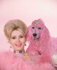Zsa Zsa & Pink Poodle...My aunt has a pink poodle and a pink cadillac