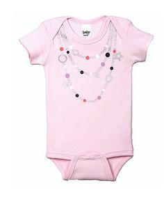 Take a look at this Pink Star Bead Necklace Bodysuit - Infant on zulily today!