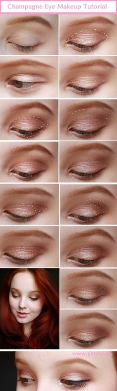 Champagne Eye Makeup Tutorial.. http://wp.me/p4wyIm-1zQ ..I love champagne color shade and I honestly feel it looks pretty good with darker shade of eyes, since .. #EyeMakeupTutorial #SimpleEyeMakeup #BlueEyeMakeup