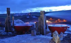 Relaxing in the evening in one of these hotubs at The Scarlet Hotel in Cornwall Places In Cornwall, Cornwall Hotels, Cornwall Breaks, St Michael's Mount, Port Isaac, Hidden Beach, Truro, Travel And Leisure, Beach Fun