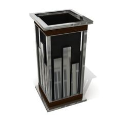543 Arcimboldo outstanding design litter bin with ashtray lid exclusive line 40Litres