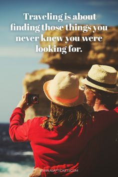 Traveling is about finding those things you never knew you were looking for. ~ Travel Quotes #travelquotes #travel #quotes
