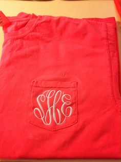 Comfort Color Monogram Pocket Tee by The Initialed Life