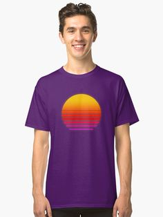 Fan of retro graphics? Here& the most thing you can get! Fabric Weights, Heather Grey, Chiffon Tops, Classic T Shirts, Graphics, Artists, Shirt Dress, Fan, Retro