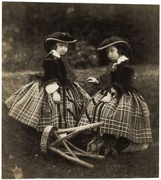 Princesses Helena and Louise, 1856, Roger Fenton © Royal Photographic Societyfrom 'A Royal Passion: Queen Victoria and Photography' at the Getty Center from February 4–June 82014.