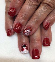 Christmas nails Christmas Nails, Nail Art, Makeup, Beauty, Ongles, Christmas Manicure, Make Up, Nail Arts, Beauty Makeup