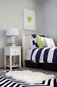 Navy Lime Green And Gray Boys Bedroom Nice Wall Color Erik Pinterest Room