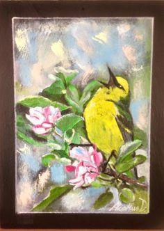 "Ardesia dipinta a mano cm18x24 ""Primavera"""
