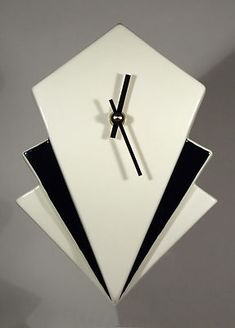Echo Of Deco Art Deco Ceramic Manhattan Wall Clock | eBay
