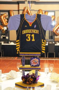 Football Jersey Centerpieces Bar Mitzvah Party By Balloon
