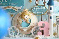 Backdrop from a Royal Teddy Bear Birthday Party via Kara's Party Ideas KarasPartyIdeas.com (4)