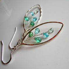 Green Blue Apatite Aquamarine Wire Wrapped by AliciasStones