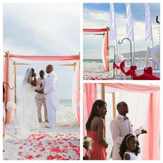 coral beach arbor | Destin Beach Wedding Location : Resorts of Pelican Beach, Destin, Fl