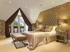 Luxury Gold Bedroom- Gracious Luxury Interiors