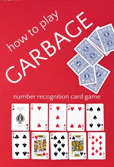 Garbage is an easy card game for kids, from preschoolers working on number recognition to older kids who love playing games. Great card game for classroom time or family game night. Games For Fun, Math Activities For Kids, Card Games For Kids, Fun Math, Games To Play, Preschool Ideas, Math Card Games, Family Card Games, Dice Games