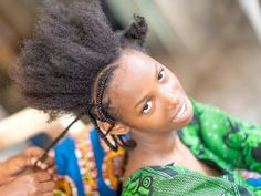 """A young woman of Mali """" Bambara """" lets combing her beautiful hair before a romantic walk. Love also endures among men ruins. Hairdressers, African Beauty, Young Women, Romantic, Hairstyles, Beautiful, Haircuts, Hairdos, Hair Makeup"""