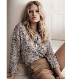 Mango spring/summer 2015 lookbook with model Anna Ewers