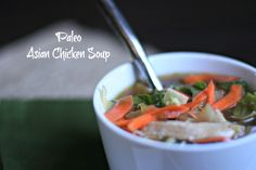 Paleo Asian Chicken Soup | OAMC from Once A Month Mom