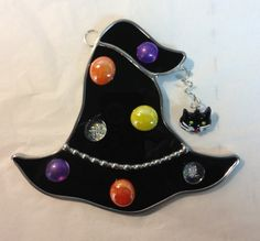 Stained Glass Festive Witch Hat by craftycleo on Etsy, $18.00
