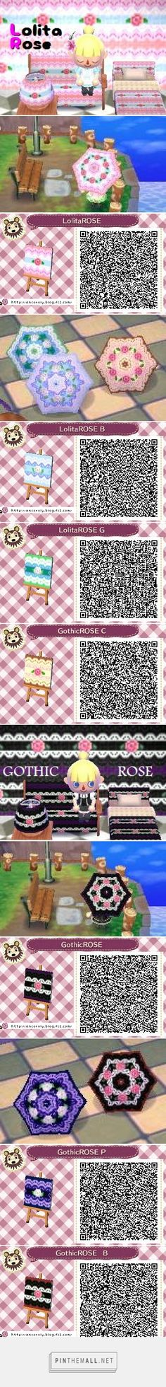 Lolita Rose / Gothic Rose pattern in various colors. Great for furniture and umbrellas