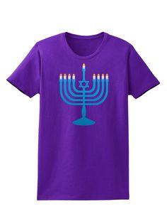 Hanukkah Menorah Womens Dark T-Shirt