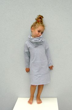 Grey Dress with kangaroo pockets
