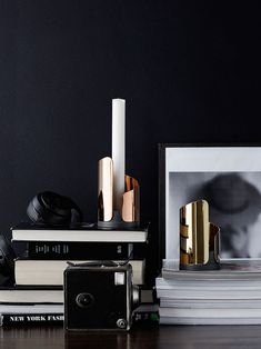 The Flame candle holders with  a distinct curvature inspired by the flickering movement of a candle flame.