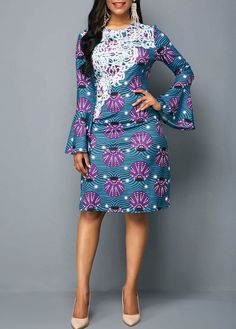 Look at this Fashionable modern african fashion Long Ankara Dresses, African Wear Dresses, Ankara Short Gown Styles, African Fashion Ankara, Latest African Fashion Dresses, African Fashion Designers, African Print Fashion, Africa Fashion, African Attire