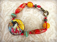 Knotted cord geisha bracelet by lilruby