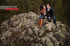 Any shoot with a little bit of rock scrambling is a good shoot. #portrait #engagement #couple #outdoors #spokane #washington #rocks #onthemoutnaintop