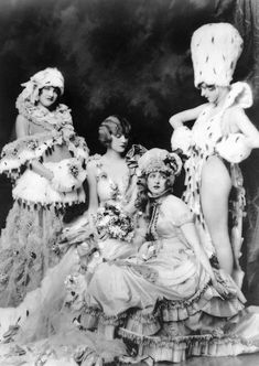 Ziegfeld girls Jean Ackerman, Jeanne Audree, Myrna Darby, and Evelyn Groves