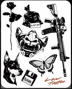 Kritzelei Tattoo, Doodle Tattoo, Dark Tattoo, Tattoo Pain, Tiny Tattoo, Black Ink Tattoos, Body Art Tattoos, Small Tattoos, Sleeve Tattoos