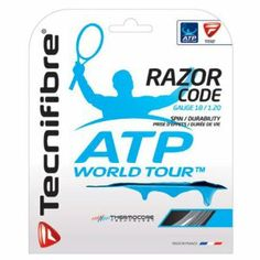 Tecnifibre ATP Razor Code 1.20MM/18G Tennis String Carbon by Tecnifibre. $16.00. ng polyurethane with the base polyester material and utilizing varying temperatures during the diff. new feel to monofilament strings Thermocore Technology is used in the manufacturing process combin. rent stages of construction allowing the matrix structure of the string to soften Thanks to Thermoc. Poly string technology is taken to a new level with the introduction of Tecnifibre...