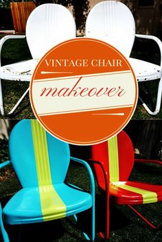 Rusty Vintage Metal Chairs Get A Racy New Look. Learn How To Clean Up And Part 70