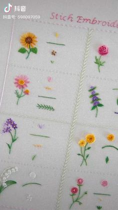 Hand Embroidery Patterns Flowers, Basic Embroidery Stitches, Hand Embroidery Videos, Embroidery Stitches Tutorial, Hand Embroidery Flowers, Simple Embroidery, Learn Embroidery, Hand Embroidery Designs, Baby Girl Embroidery Ideas