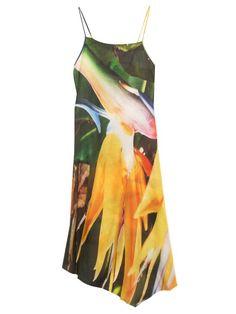 Marques'Almeida Contrast abstract-print dress
