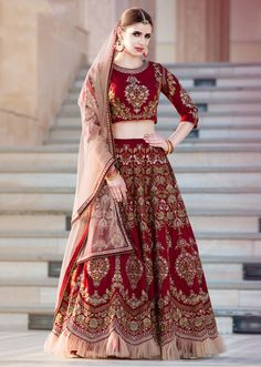 Looking to Buy Lehenga Online: Buy Indian lehenga choli online for brides at best price from Andaaz Fashion. Choose from a wide range of latest lehenga choli designs. * Express delivery, Shop Now! Indian Lehenga, Lehenga Sari, Indian Wedding Lehenga, Lehenga Choli Online, Bridal Lehenga Choli, Anarkali, Heavy Lehenga, Lehenga Choli Designs, Ghagra Choli