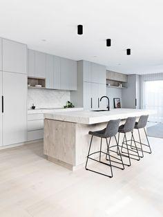 5 tips to create a Scandi style house - Scandinavian Design Trends - Have Best Home Decor ! Scandi Chic, Scandi Home, Scandinavian Kitchen, Scandi Style, Modern Scandinavian Interior, Nordic Home, Open Plan Kitchen, New Kitchen, Kitchen Dining