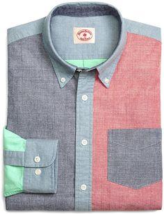 888c57073a Chambray Fun Sport Shirt Janie Fit Five-Pocket Corduroy Pants