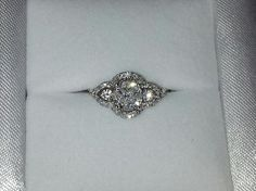My art deco vintage engagement ring! <3