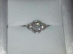 My art deco vintage engagement ring! <3