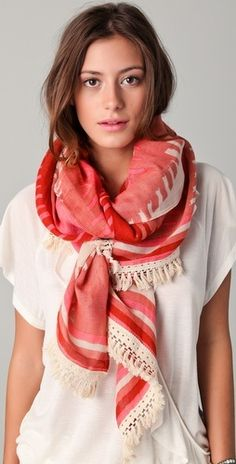 Fringe scarves add texture and movement to any outfit. Dámská Móda 31bbd7fc7d