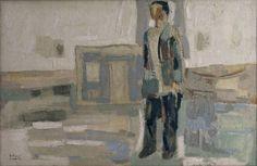 Hombre en el paisaje  - 1959Óleo/lienzo - 60 X 92 cm