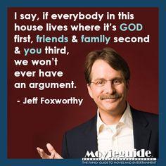 Amen, Jeff Foxworthy! #priorities