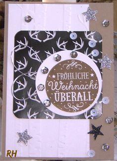 Stampin' Up!, Weihnachtskarte, Stampin' Up! Produkte 2015, Weihnachtskarte mit viel BlingBling