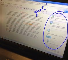 The Technology Infused Classroom: Google Docs and Essay Revision - Students can comment on each others rough drafts and offer suggestions!