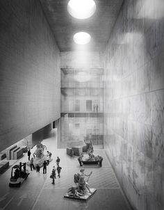 Campo Baeza . Gabrion . nuevo edificio para el Museo del Louvre . Lievin (5)