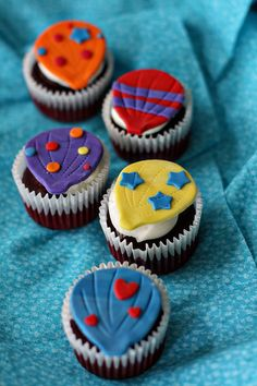 Hot Air Balloon Fondant Toppers for by parkersflourpatch on Etsy, $18.00